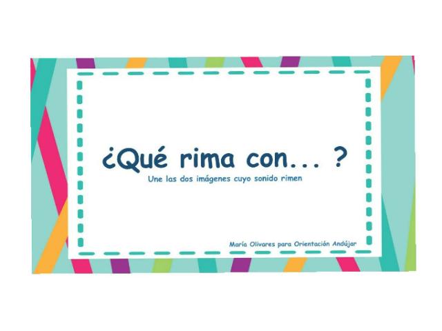 Qué rima con...?1 by Marisa