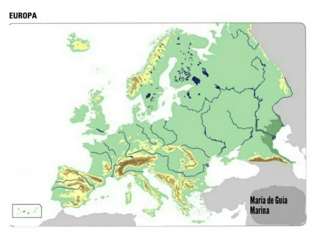 Mapa físico de Europa by Marina Rubio