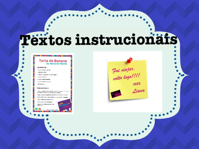 Texto instrucional by Ana Claudia Marques