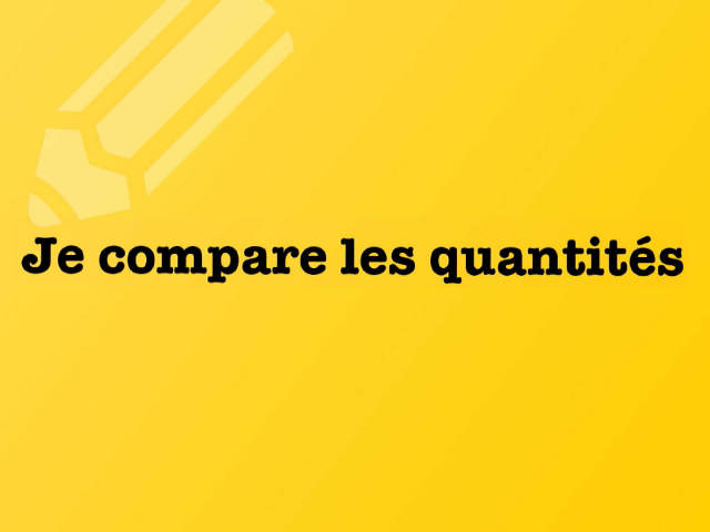 3- je compare les quantites by david dumas