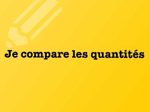 3- je compare les quantites by david dumas