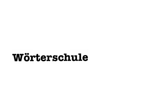 Wörterschule by Waldemar Löffler