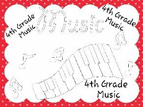 4th Grade Music by Julia Hearn