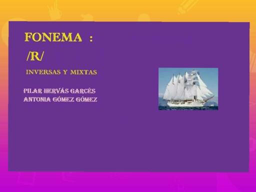 Fonema r inversas y mixtas by pilitoninas primitivas