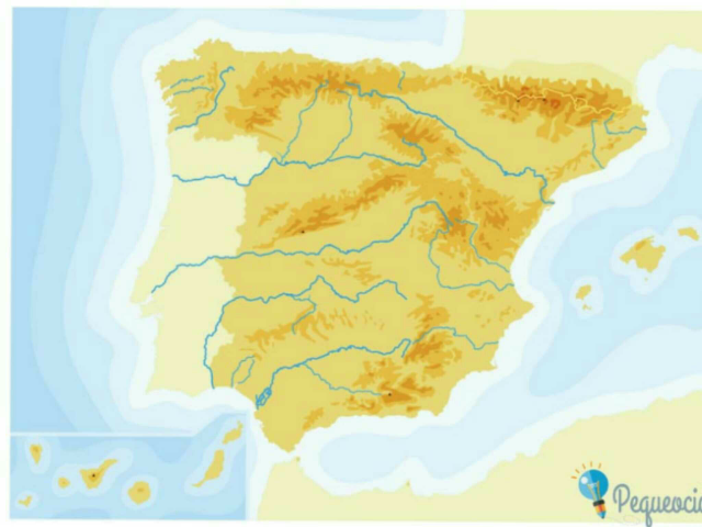 Mapa relieve España by Cristina Rodrigo Ruiz