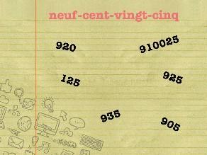 Lire et écrire les nombres jusqu'à 999 (1) by Sébastien Hervois