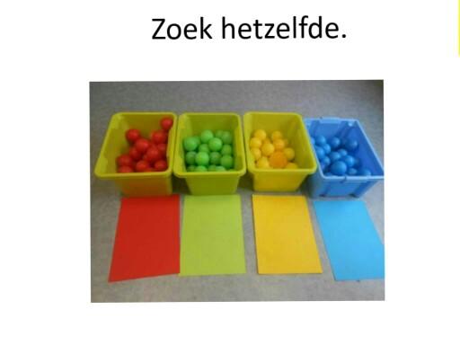 idenficeren op kleur, thema fruit by An Bollein