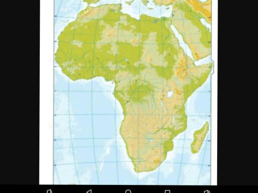 Africa fisica by Antonio Miron Guzman