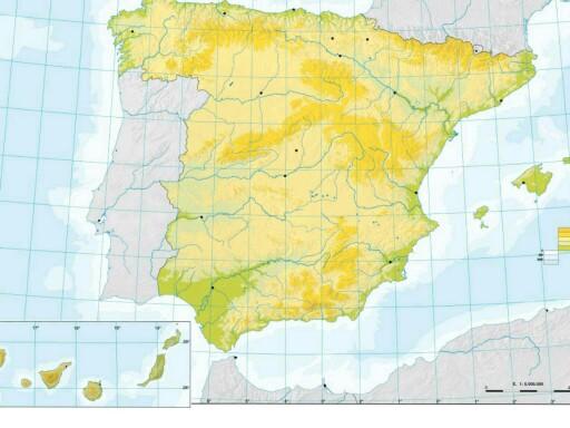 Mapa Físico España by lazaro jabalquinto