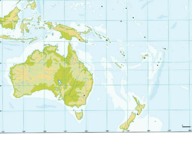 Mapa físico Oceanía by Miguel Ángel Rodríguez