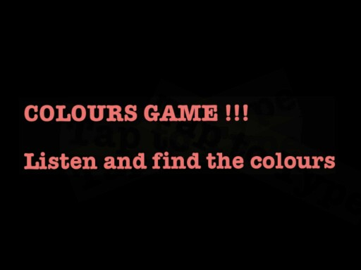 COLOURS GAME SRA CE1 by Serge Salvat