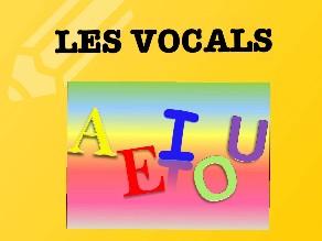 Les vocals by Alumnes espiga