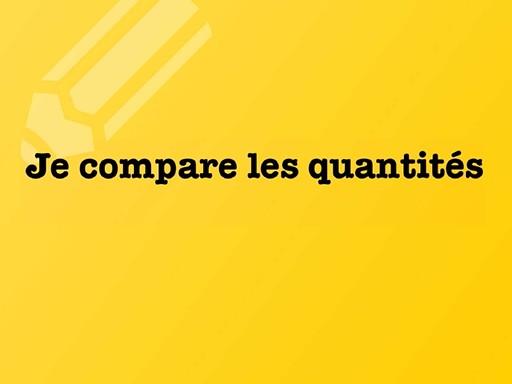 2- je compare les quantites by david dumas