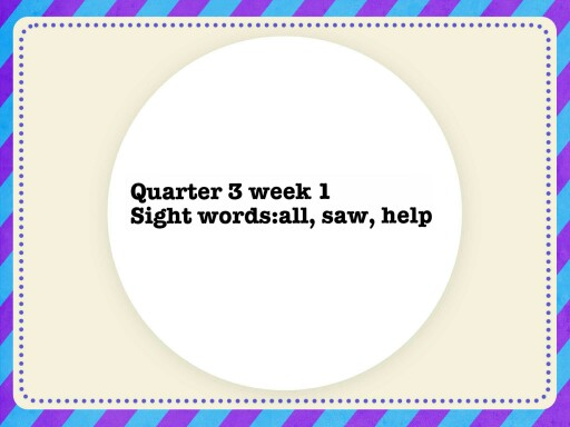 Quarter 3 week 1 by Jessica Henslee