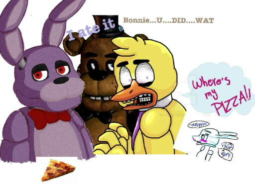 chica pizza story by Love Bonnie