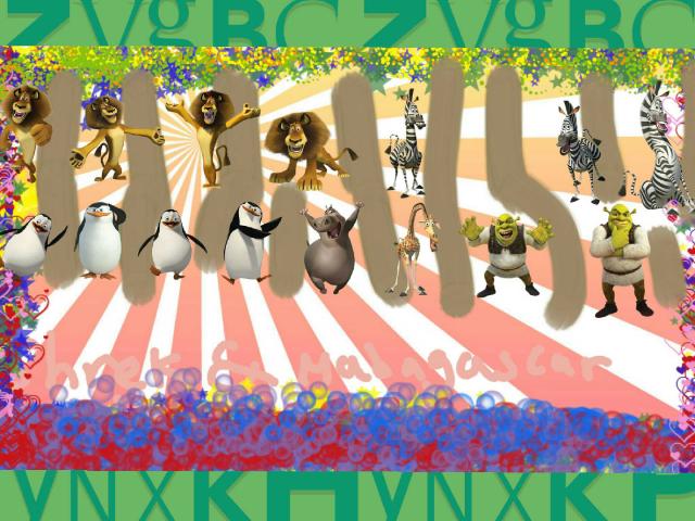 Shrek & madagascar characters by Milasha Hunter
