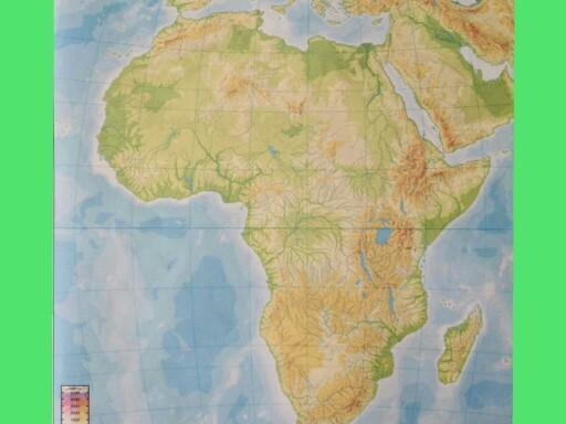 MAPA FÍSICO ÁFRICA  by albert_10