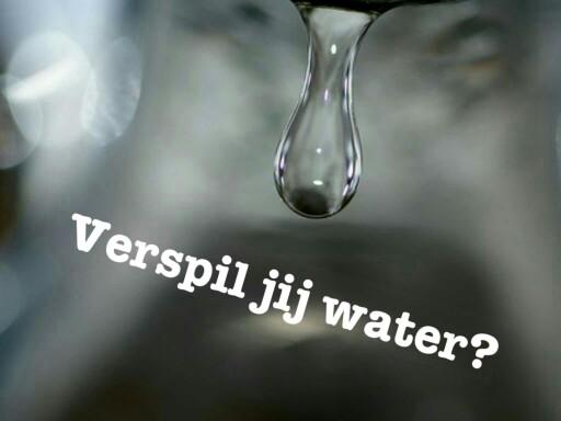 Water verspillen of niet? by Sarah Vermeulen
