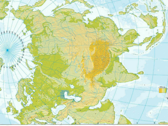 Mapa Asia físic   by Javier Oliver Alegre