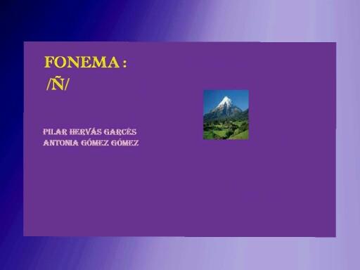 Fonema ñ by pilitoninas primitivas