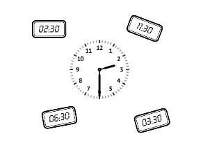 Klok kijken - halve uren by Ellen Bijen