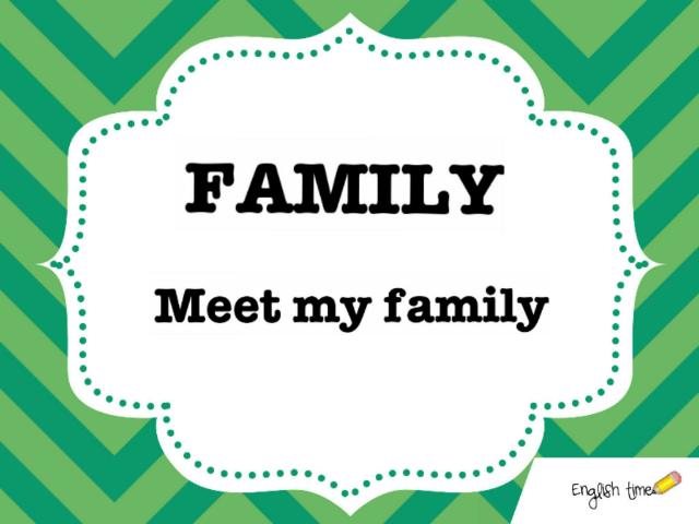 Family ~ meet my family by Cecilia Zezlin