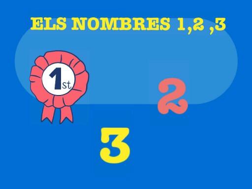 ELS NOMBRES 1,2,3 by Groc Cossetans