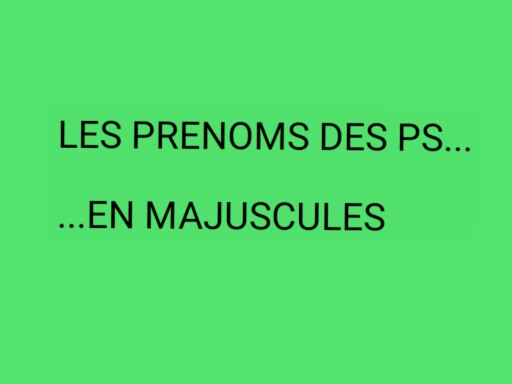 SRA Prénoms PS Majuscules by Serge Salvat