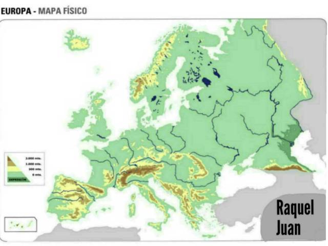 Juego Mapa Físico Europa by Juan Toril
