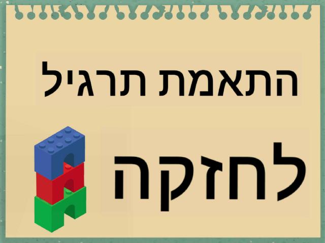 התאמת חזקה לתרגיל by רונית יעקב