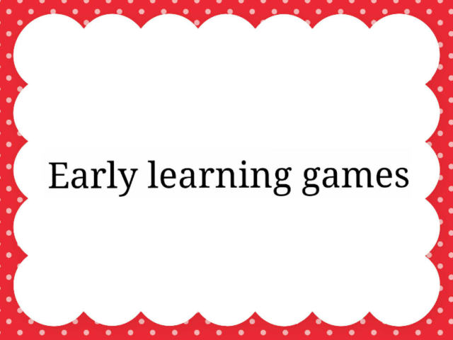 Early Learning Games-1 by Akira Manning