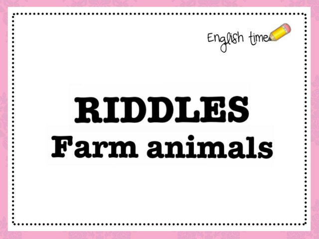 Riddles - farm animals by Cecilia Zezlin