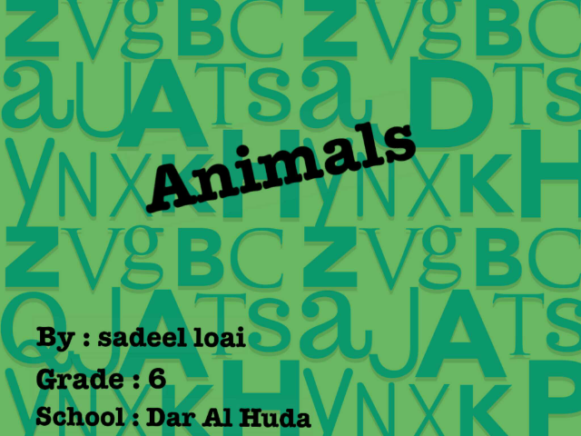all about Animals by Sadeel Loai