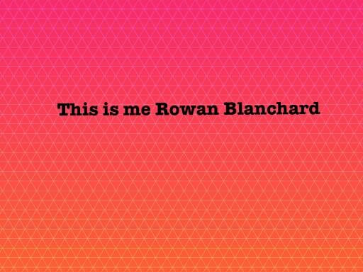 This is me Rowan Blanchard by marli waters