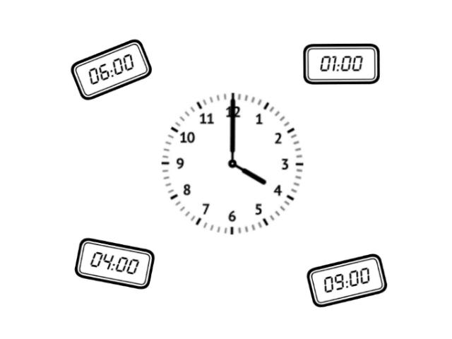 Klok kijken - hele uren by Ellen Bijen