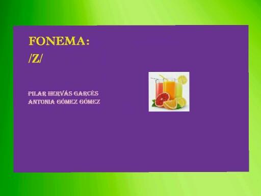 Fonema z by pilitoninas primitivas