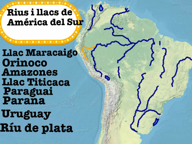 Rius i llacs de América del Sur   by monica martinez rivas
