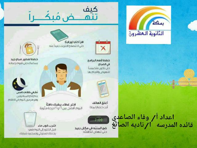 خطوات الاستيقاظ المبكر by وفاء الصاعدي