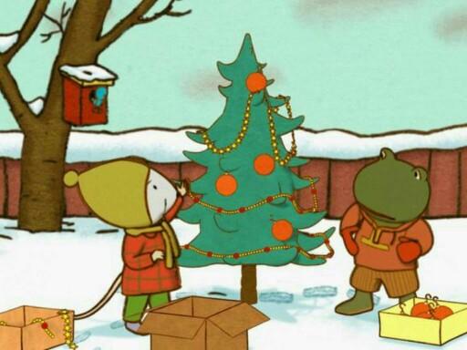 kerstbal in de juiste kerstboom hangen by An Bollein