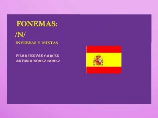 Fonema n inversas y mixtas by pilitoninas primitivas