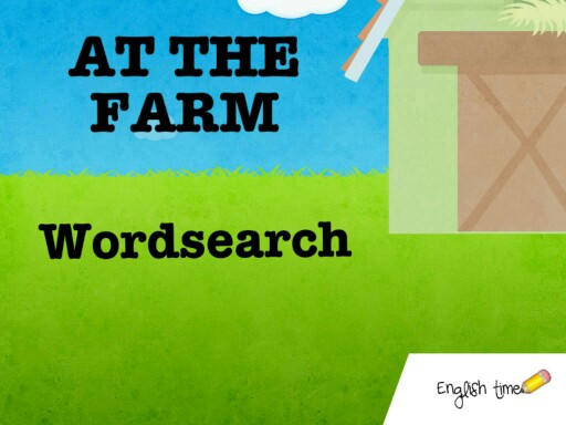At the farm ~ wordsearch by Cecilia Zezlin