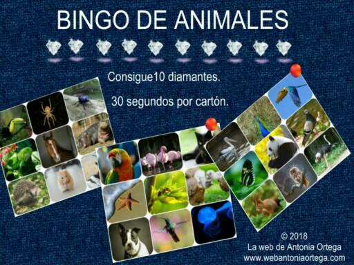 BINGO DE ANIMALES by Antonia Ortega López