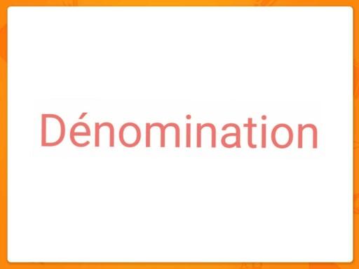 Dénomination by Morgane Pi