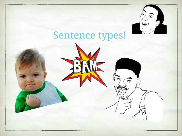 sentence types and errors   by Brittnee Garner