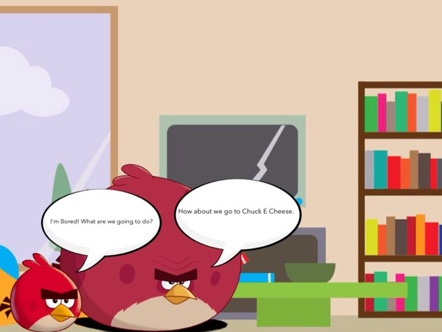 Angry Birds And Friends Go To Chuck E Cheese by George awrahim