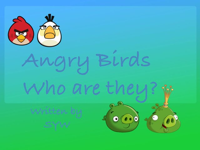 Angry Birds Characters by Sandra Wootton