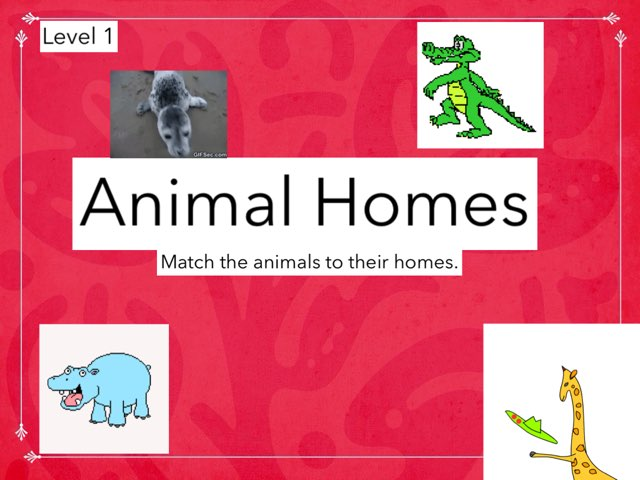Animal Homes Level 1 by Julie Gittoes-Henry