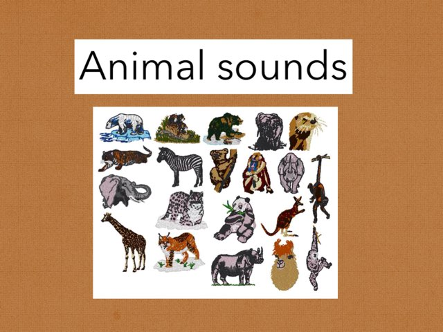Animal Sounds by DeVere Bunke