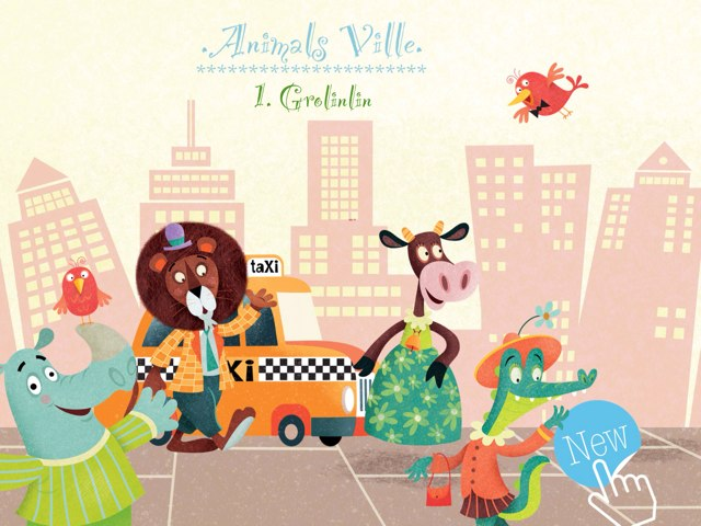 Animals Ville. 1. Grolinlin by Adele Ho