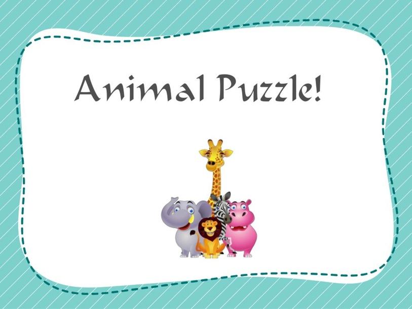 Animals Puzzle by Agustina Suarez
